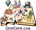 New Mexico vignette map Vector Clipart image