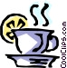 Hot tea Vector Clipart picture