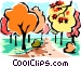 Fall scene Vector Clipart picture
