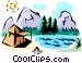 Mountain scene Vector Clip Art image
