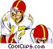 Quarterback taking snap Vector Clip Art graphic