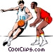 Basketball player dribbling Vector Clipart graphic