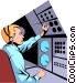 Air traffic controllers Vector Clipart graphic