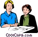 Teacher & student Vector Clipart picture