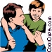 Father & son Vector Clipart picture
