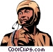 Military man Vector Clip Art graphic