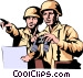 Military men Vector Clipart illustration