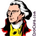 Thomas Jefferson Vector Clipart illustration
