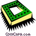 Computer chip Vector Clip Art image