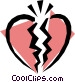Broken heart Vector Clip Art graphic