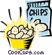 Potato chips Vector Clipart picture