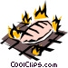 Barbecue chicken Vector Clipart picture