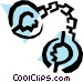 Handcuffs Vector Clipart picture
