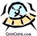 UFO Vector Clipart graphic