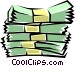 Bundles of cash Vector Clipart graphic