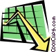 Sales charts Vector Clipart picture