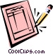Check list Vector Clipart graphic