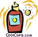 Suntan lotion Vector Clipart picture