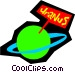 Planet Uranus Vector Clipart illustration