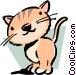 Cartoon cat Vector Clipart image