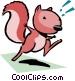 Cartoon squirrel Vector Clip Art graphic