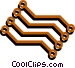 Circuit boards Vector Clip Art graphic
