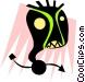 Weird face Vector Clipart image