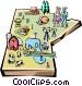 Manitoba map Vector Clip Art image