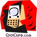 communication concept Vector Clipart illustration