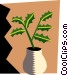 Houseplants Vector Clipart illustration
