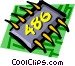 Computer chips Vector Clip Art graphic