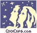Sign of the zodiac - Gemini Vector Clipart graphic