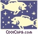 Sign of the zodiac - Pisces Vector Clipart image