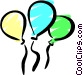 Party balloons Vector Clip Art graphic