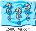 Seahorse Vector Clip Art graphic