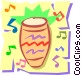 Bongo drum Vector Clip Art graphic