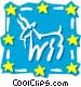 Sign of the zodiac - Capricorn Vector Clip Art image