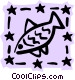 Sign of the zodiac - Pisces Vector Clipart picture