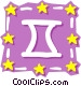 Sign of the zodiac - Gemini Vector Clip Art image