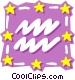 Sign of the zodiac - Aquarius Vector Clip Art image