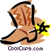 Cowboy boots Vector Clipart image
