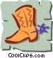 Cowboy boots Vector Clipart picture