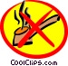 No smoking sign Vector Clip Art graphic