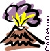 Volcanoes Vector Clipart picture