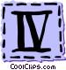 Roman numerals Vector Clipart image