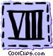 Roman numerals Vector Clipart picture