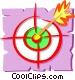 Darts in dartboard Vector Clipart picture