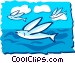 Flying fish Vector Clipart picture