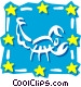 Sign of the zodiac - Scorpio Vector Clipart illustration