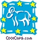 Sign of the zodiac - Aries Vector Clip Art image